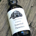 CANINE: EXTERNAL PARASITES – Water in Brandy or Vinegar 2-oz./59ml