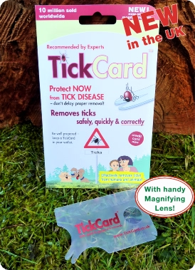 Tick Card Safecard TickCard™  removal receommeded by experts