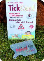 TickCard™ – safe, quick and correct tick removal.